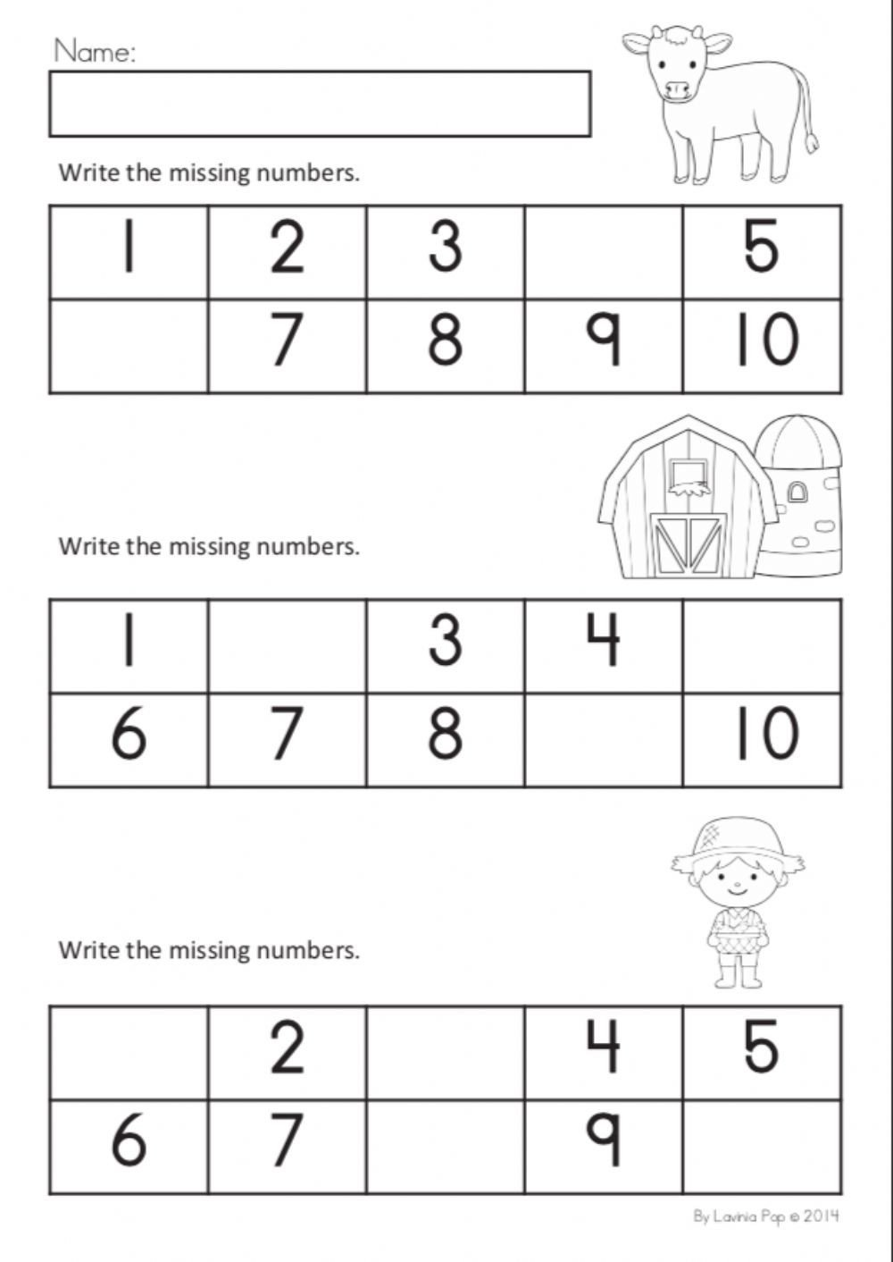 Missing Number Worksheets 1 10 Missing Numbers 1 10 Interactive Worksheet