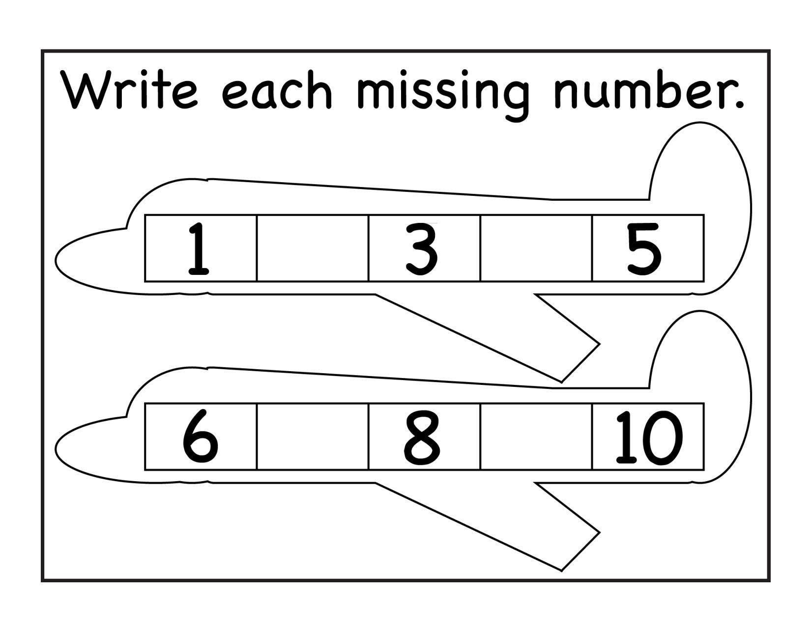 Missing Number Worksheets 1 10 Missing Numbers Archives