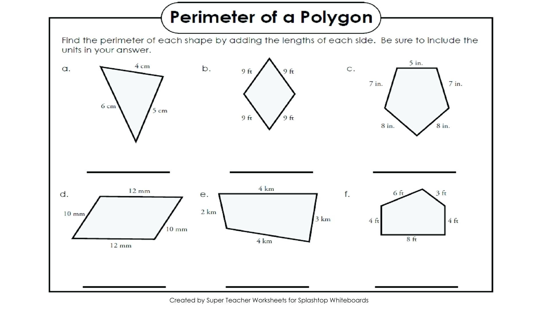 Missing Side Perimeter Worksheet Rectilinear area Worksheets