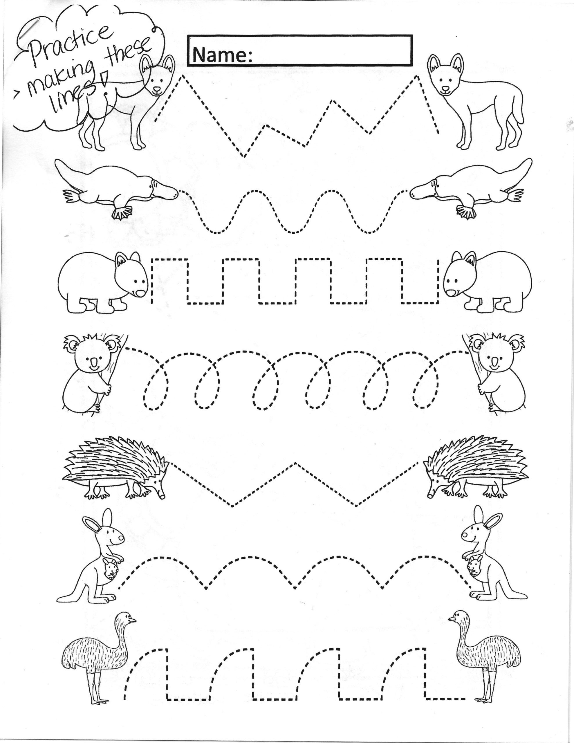 More or Less Worksheets Kindergarten Katelynn Art Learning From Home Straight Lines Worksheets