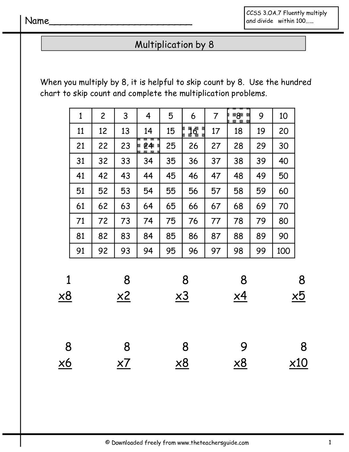 Multiplication Facts Worksheet Generator Multiplication Facts Worksheets From the Teacher S Guide