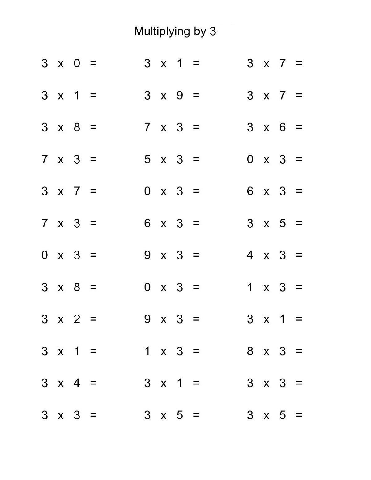 Multiplication Facts Worksheet Generator Times Table Math Worksheets Printable
