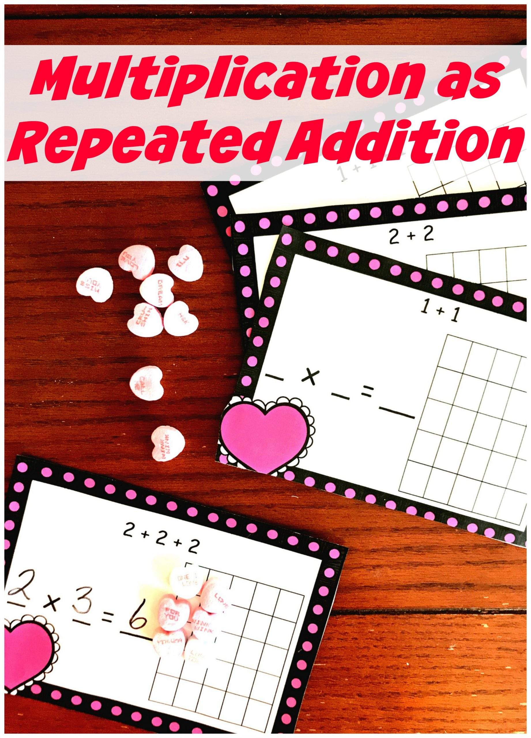 Multiplication as Repeated Addition worksheet pin