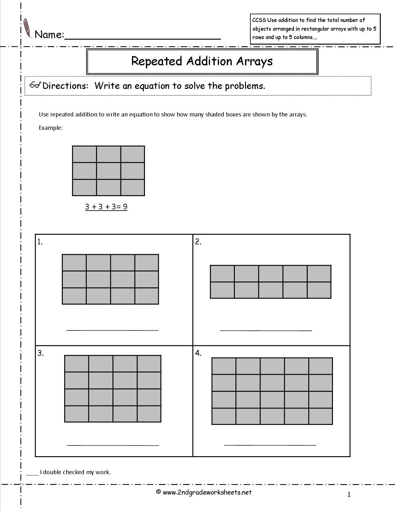 ccss 2 oa 4 worksheets with regard to multiplication worksheets as repeated addition