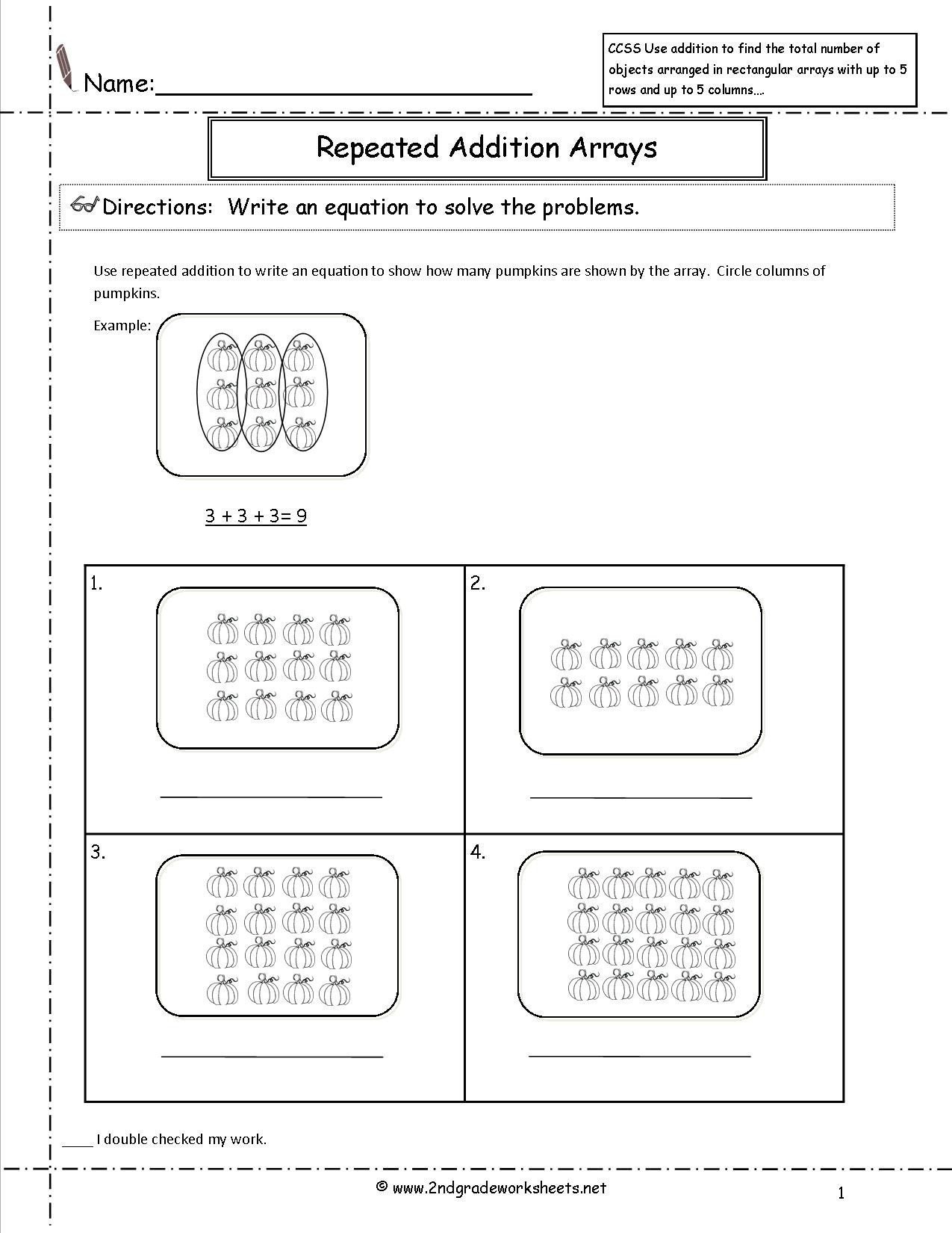 multiplication repeated addition worksheets ccss 2 oa 4 worksheets of multiplication repeated addition worksheets