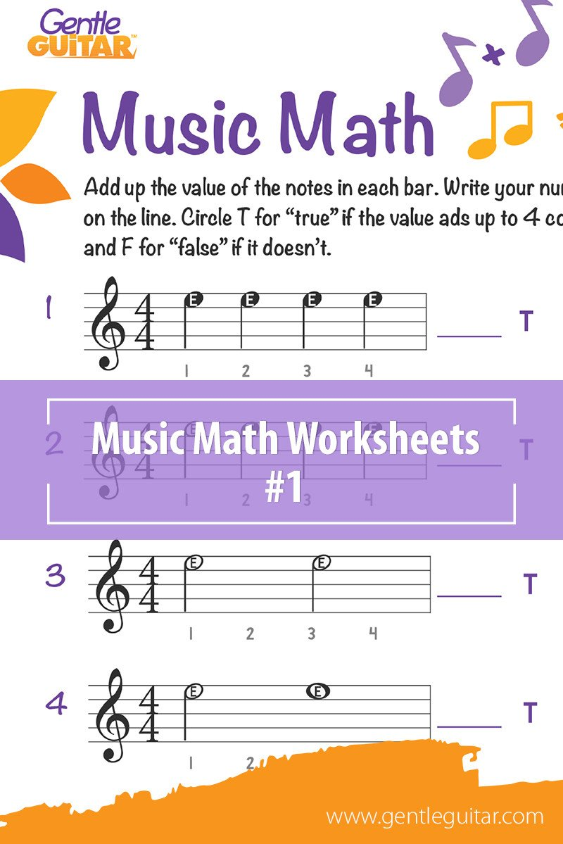 Music Counting Worksheets Music Math Worksheets Free Music Activities for Children