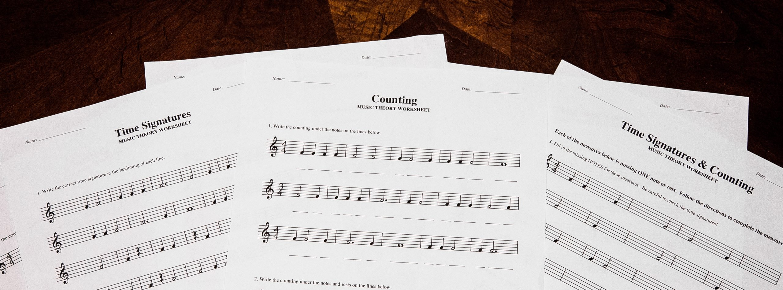 Music Counting Worksheets Time Signatures & Counting Free Printable theory Worksheets