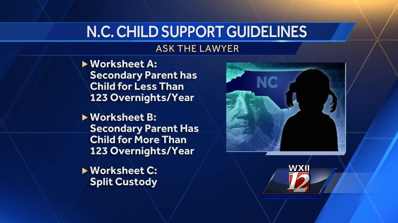 Nc Child Support Worksheet C Child Support Guidelines