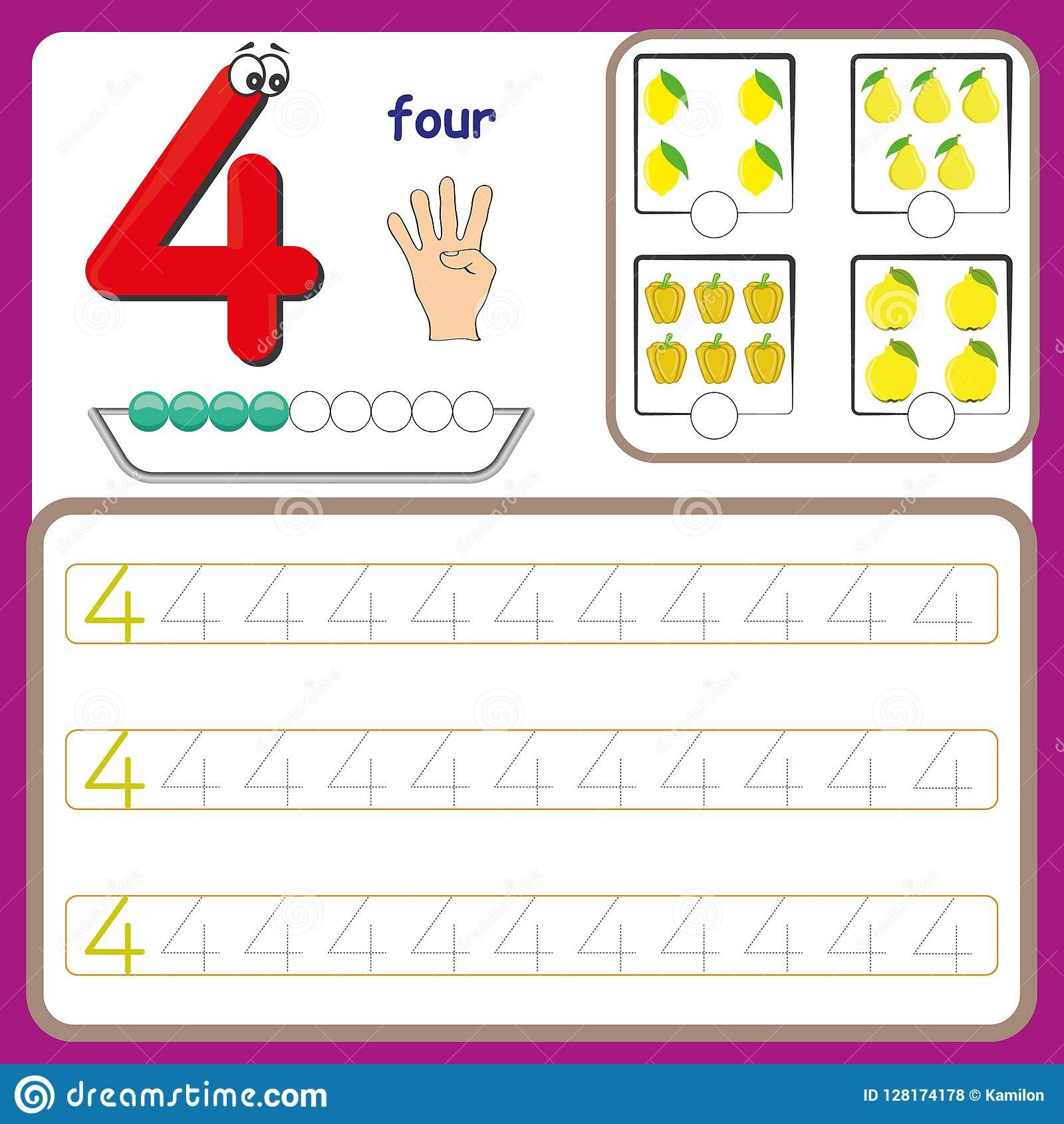 Number Tracing Worksheets for Kindergarten Number Cards Counting and Writing Numbers Learning Numbers