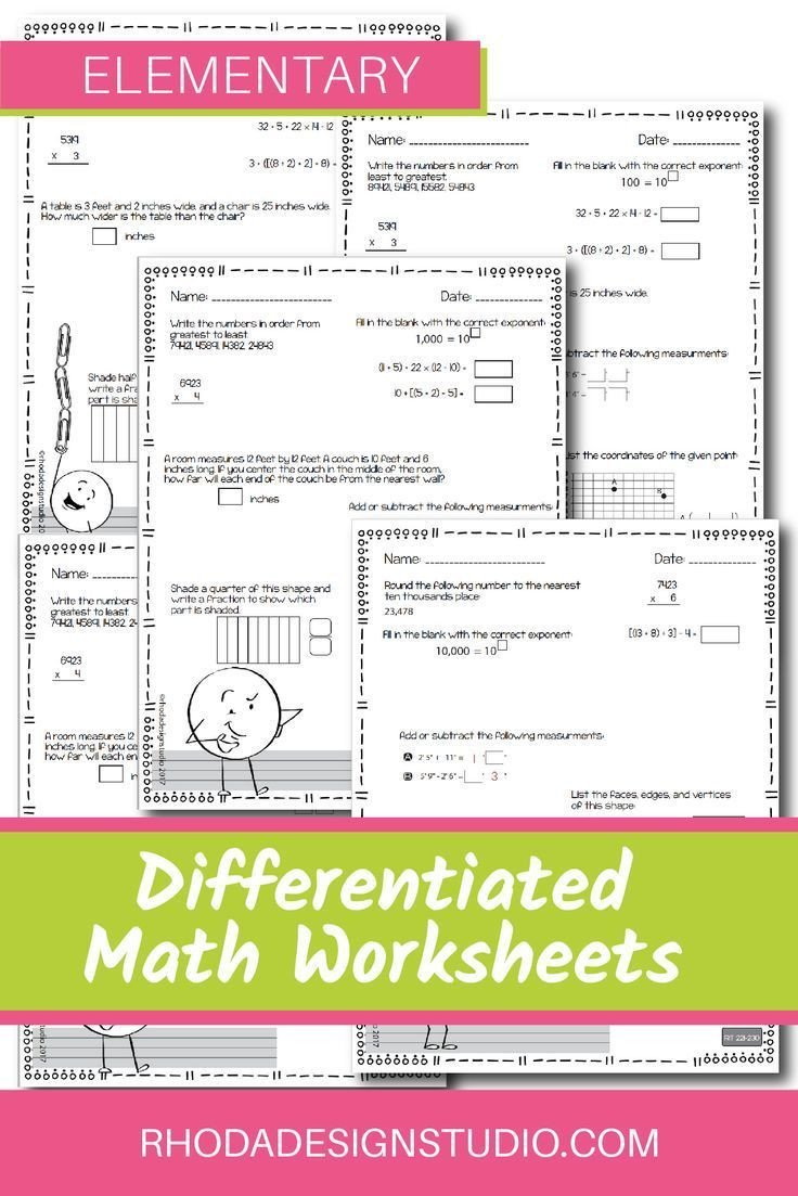 Nwea Test Prep Worksheets Nwea Map Prep Math Practice Worksheets Rit Band 180 220