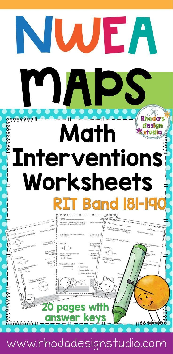 Nwea Test Prep Worksheets Nwea Map Prep Math Practice Worksheets Rit Band 181 190