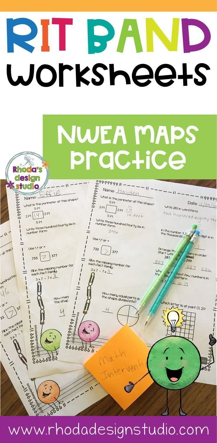 Nwea Test Prep Worksheets Nwea Map Prep Math Practice Worksheets Rit Band 191 200