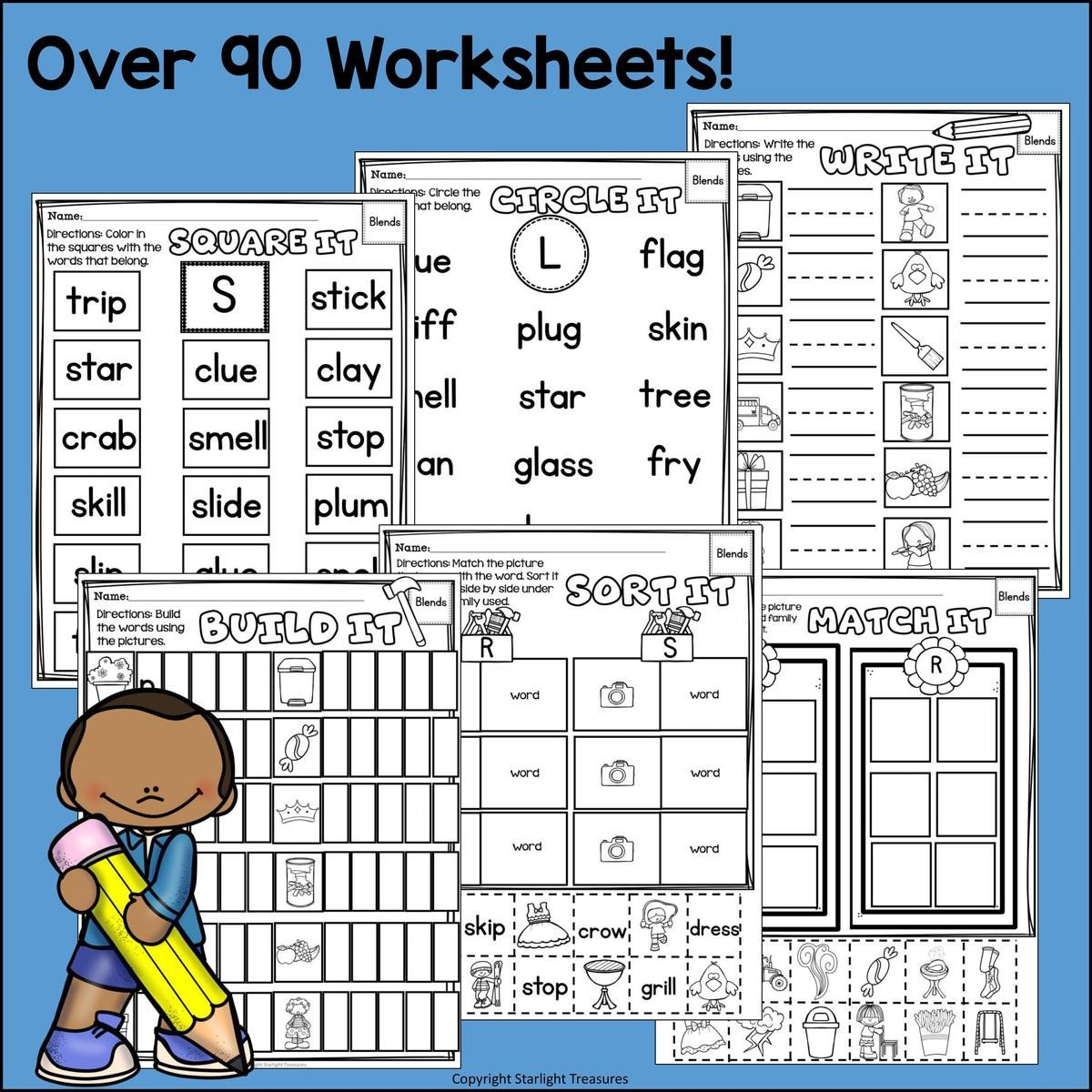 Oy Oi Worksheets Beginning Blends Worksheets and Activities for Early Readers Phonics