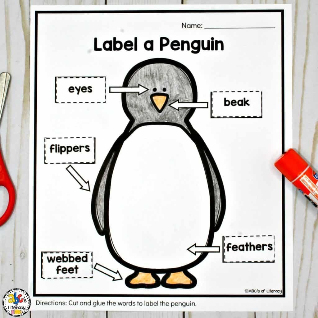Penguin Worksheets for Kindergarten Penguin Activities for A Winter Animal Unit Of Mini Lesson