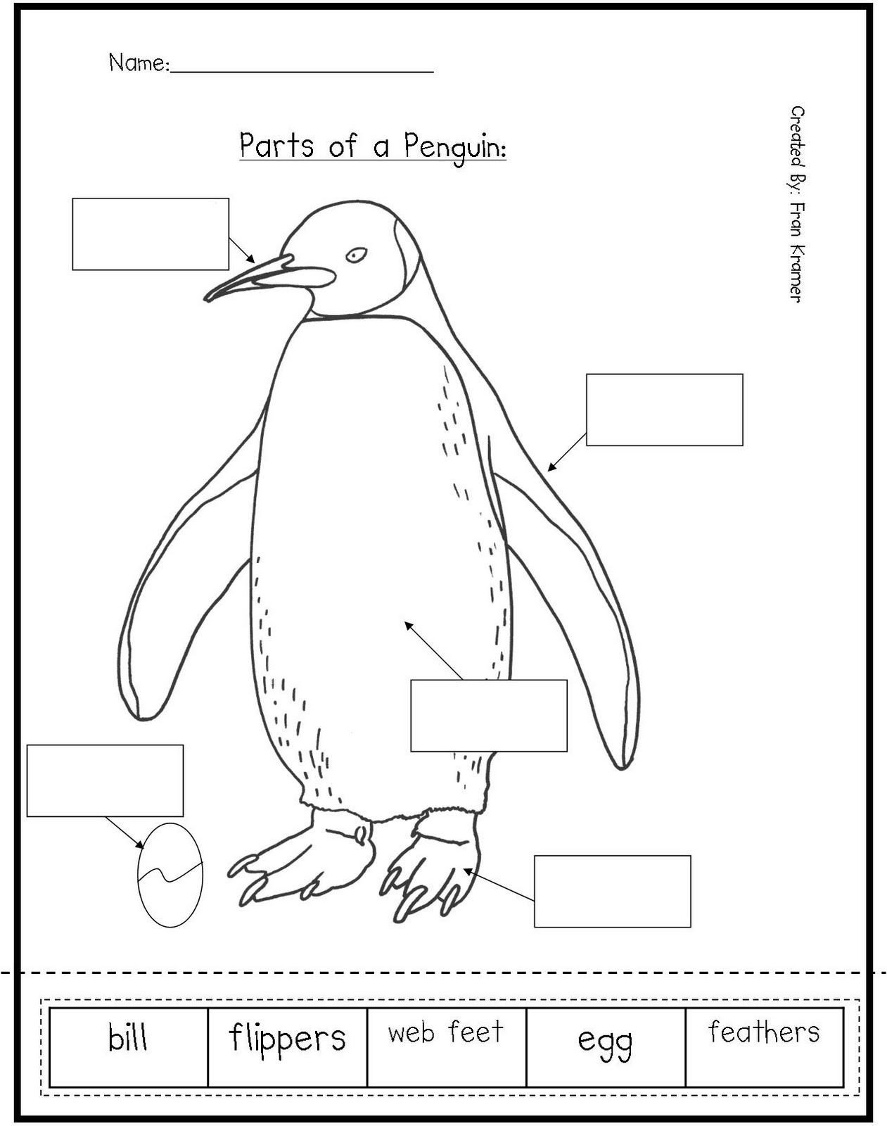 Penguin Worksheets for Kindergarten Penguin Worksheets for Preschool