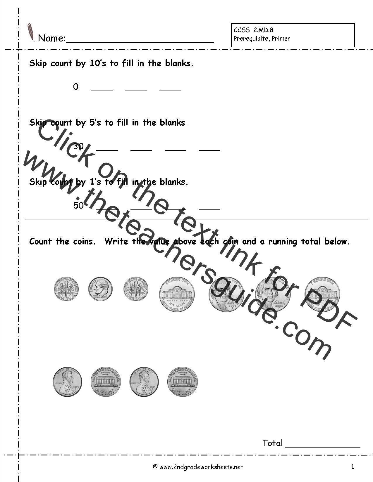 Penny Worksheets for Kindergarten Counting Coins and Money Worksheets and Printouts