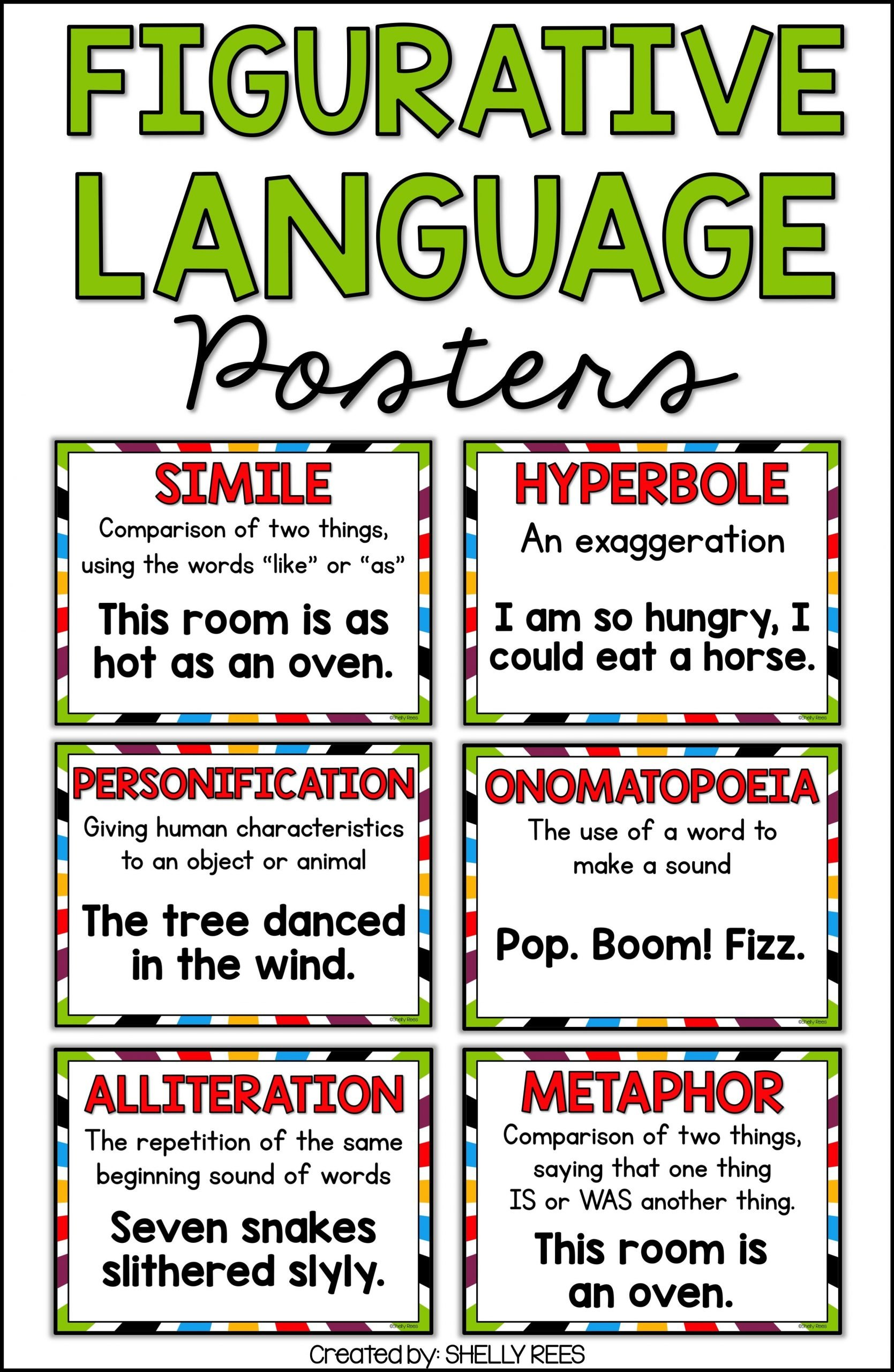 Personification Worksheets 6th Grade Figurative Language Activities