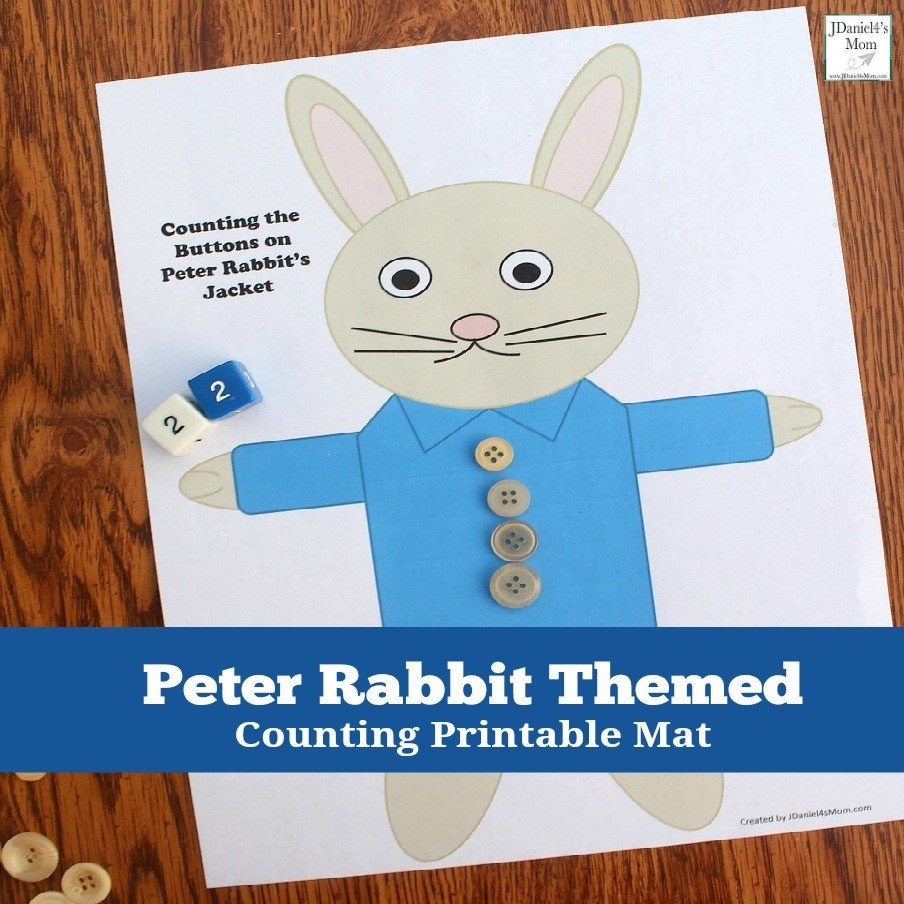 Peter Rabbit Worksheets Counting the buttons On Peter Rabbit S Jacket Printable Activity