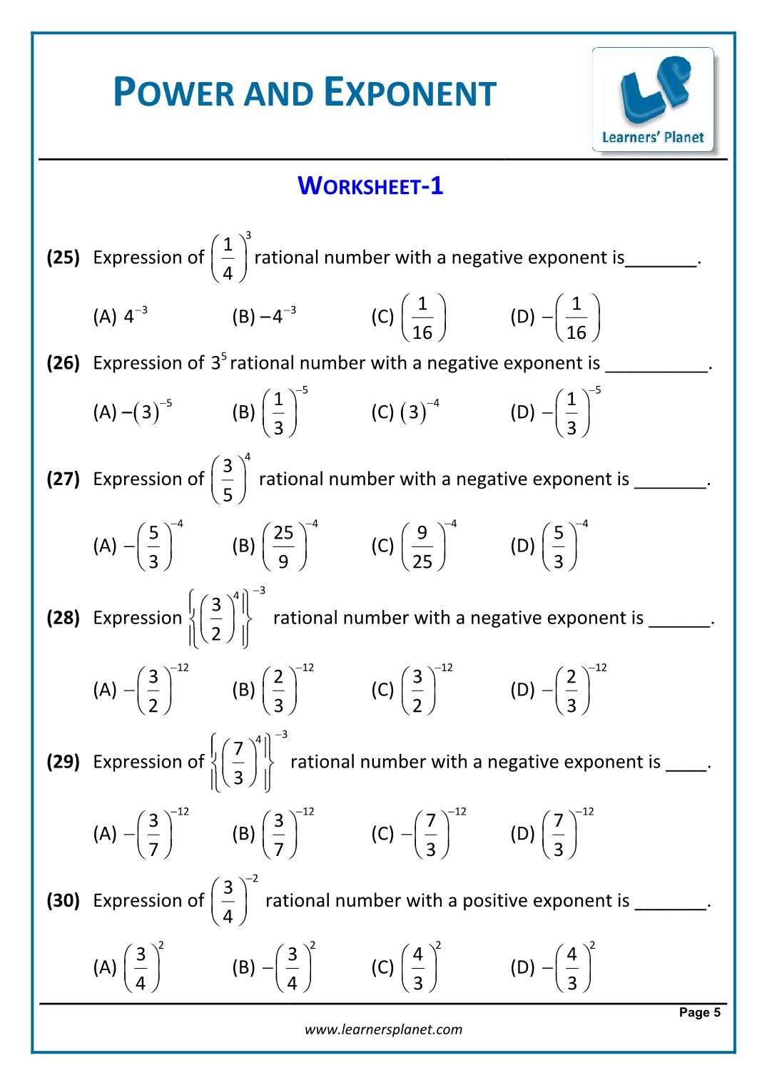 Polygons Worksheets 5th Grade 8th Math Cbse Exponents and Powers Worksheets Geometry