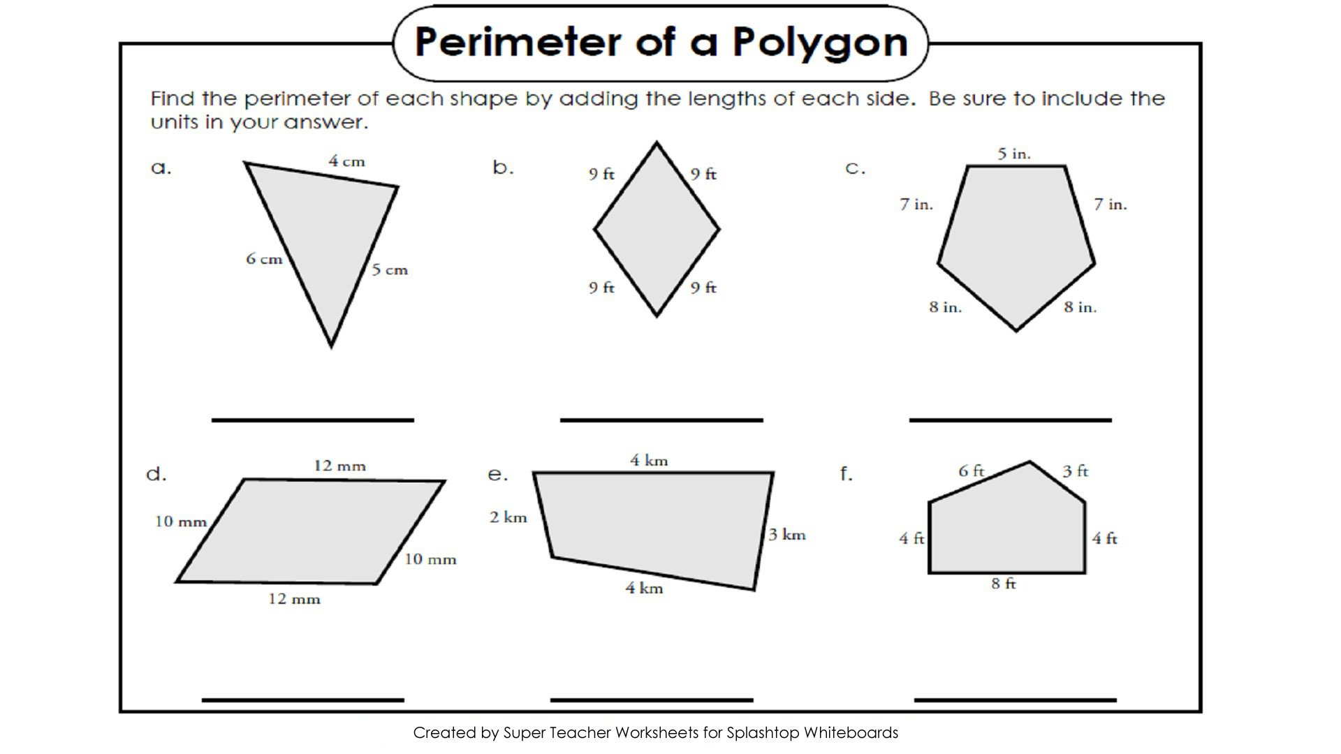 Polygons Worksheets 5th Grade Free Perimeter Worksheets