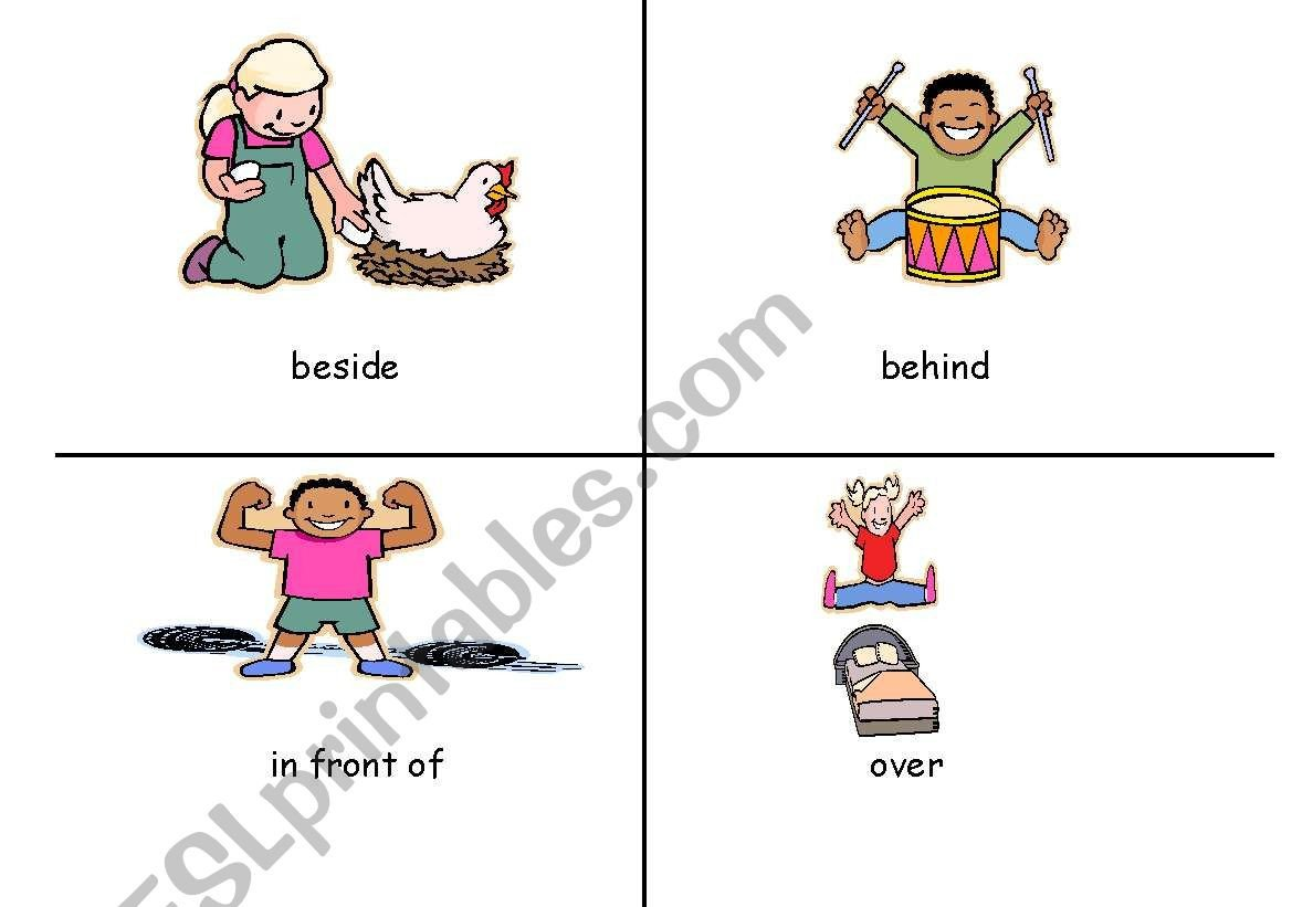 Positional Word Worksheets English Worksheets for Positional Words