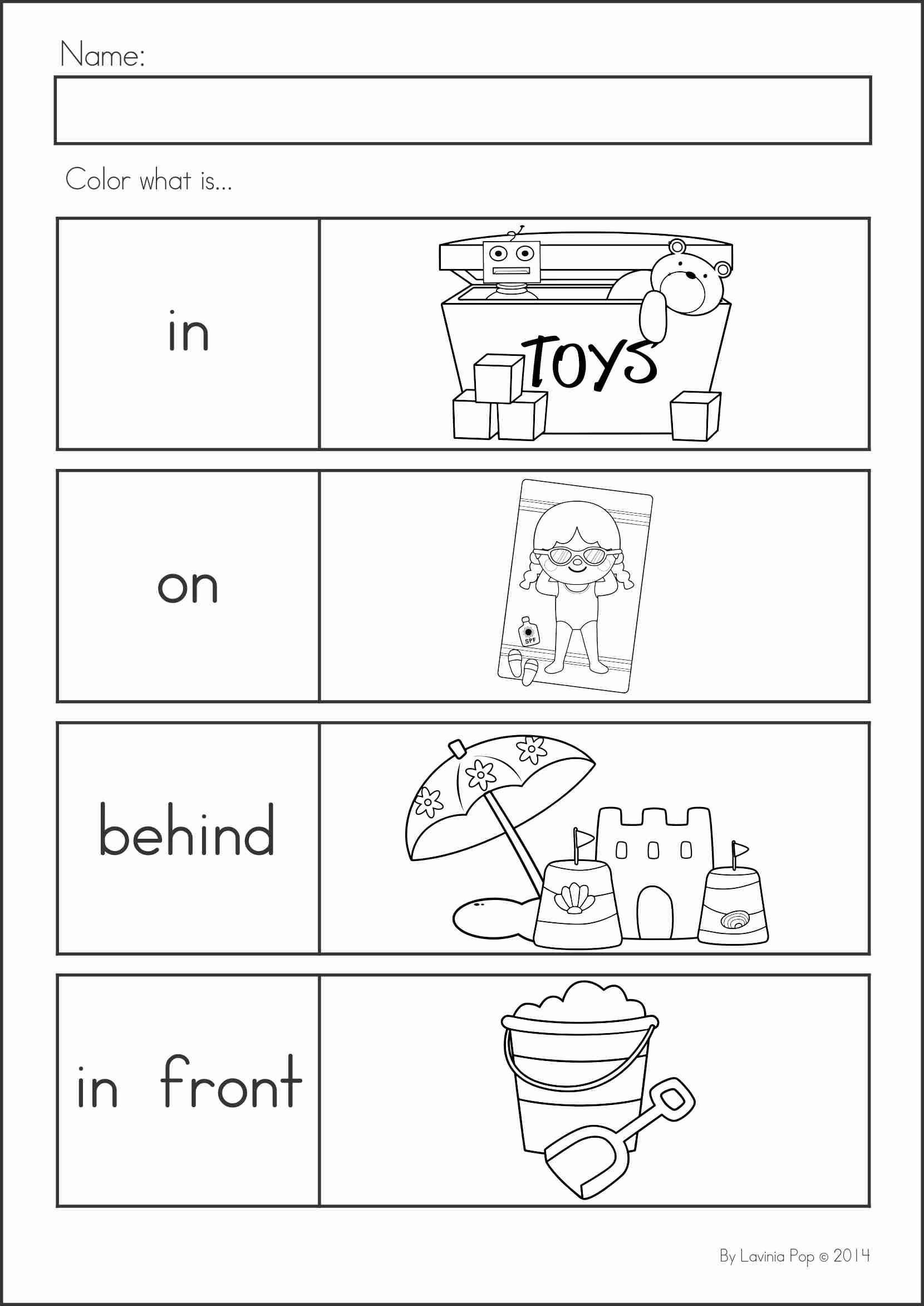 Positional Word Worksheets Pin On Printable Worksheet for Kindergarten