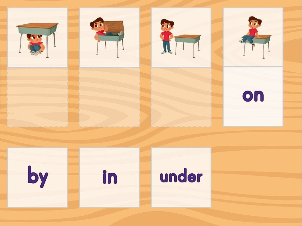 Positional Words Preschool Worksheets Positional Words Matching Game Game