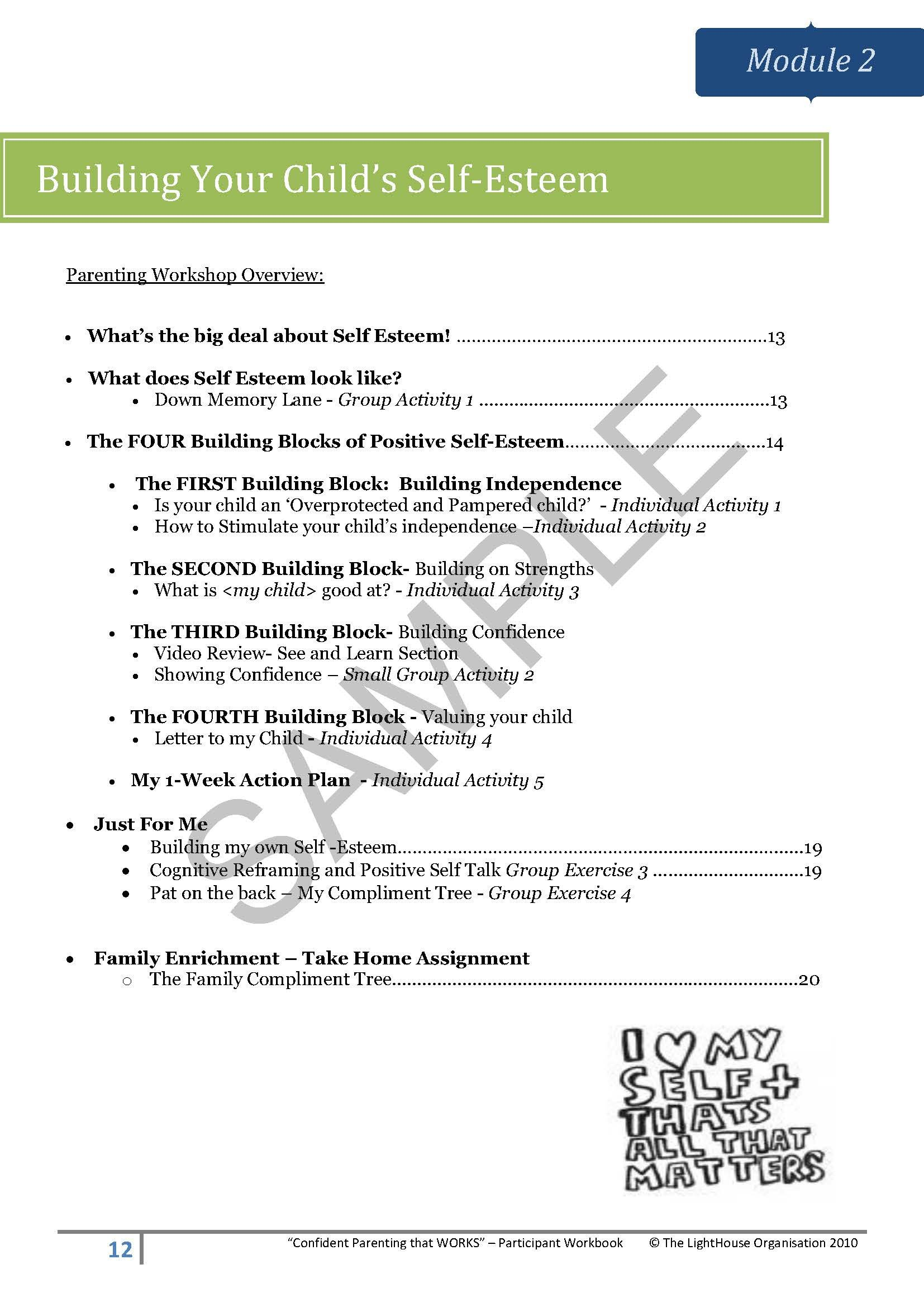 Positive Parenting Worksheets Life Skills Experts Positive Parenting Workshops