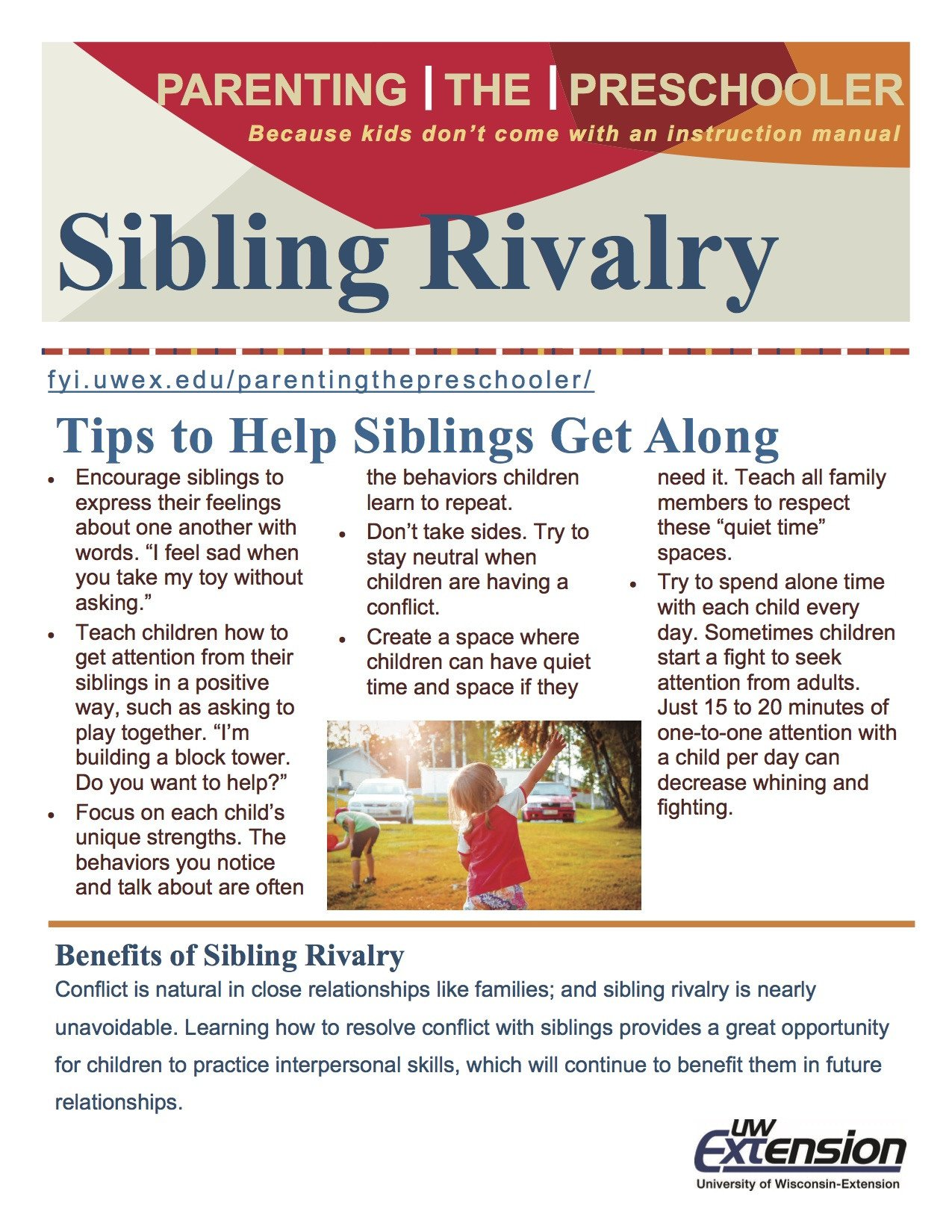 Positive Parenting Worksheets Sibling Rivalry Parenting the Preschooler Worksheets for