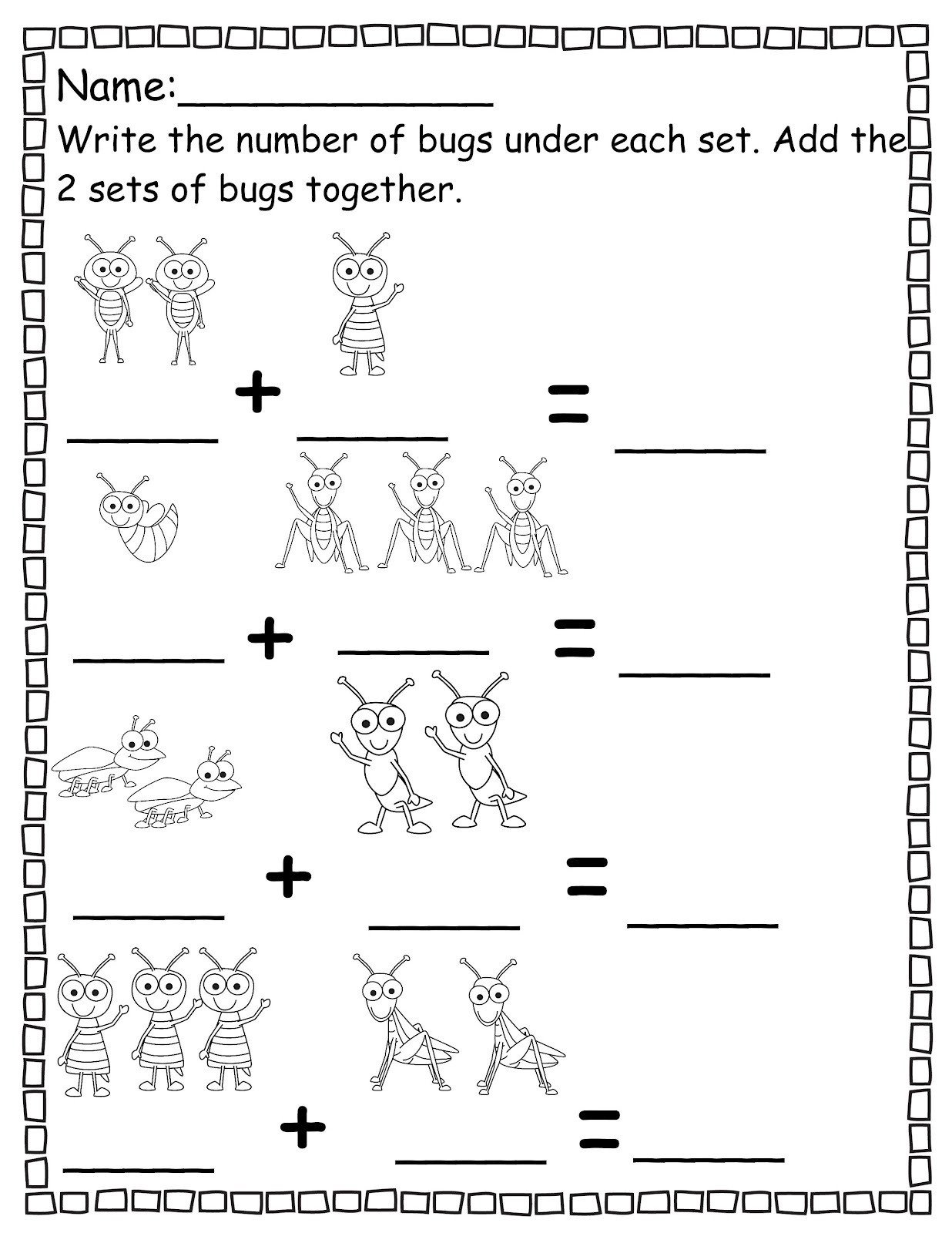 Pre K Counting Worksheets Pre K Worksheets Number