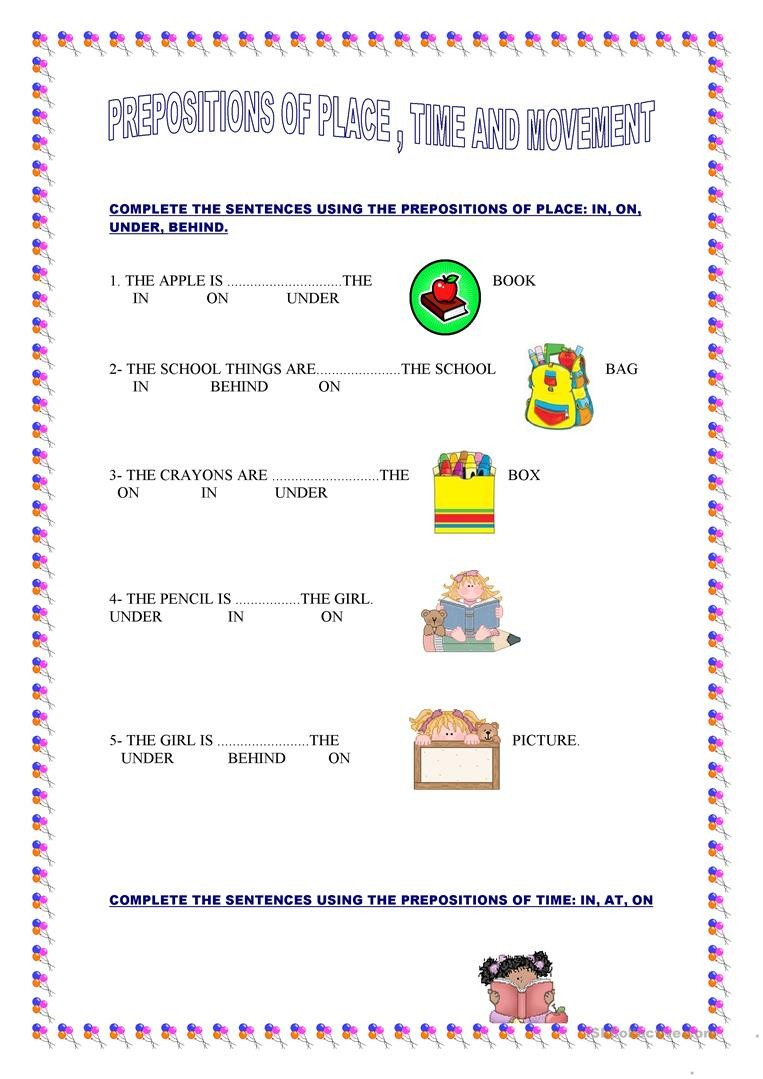 Preposition Worksheets Middle School Primary 6 Math Worksheets English Superlatives Worksheets