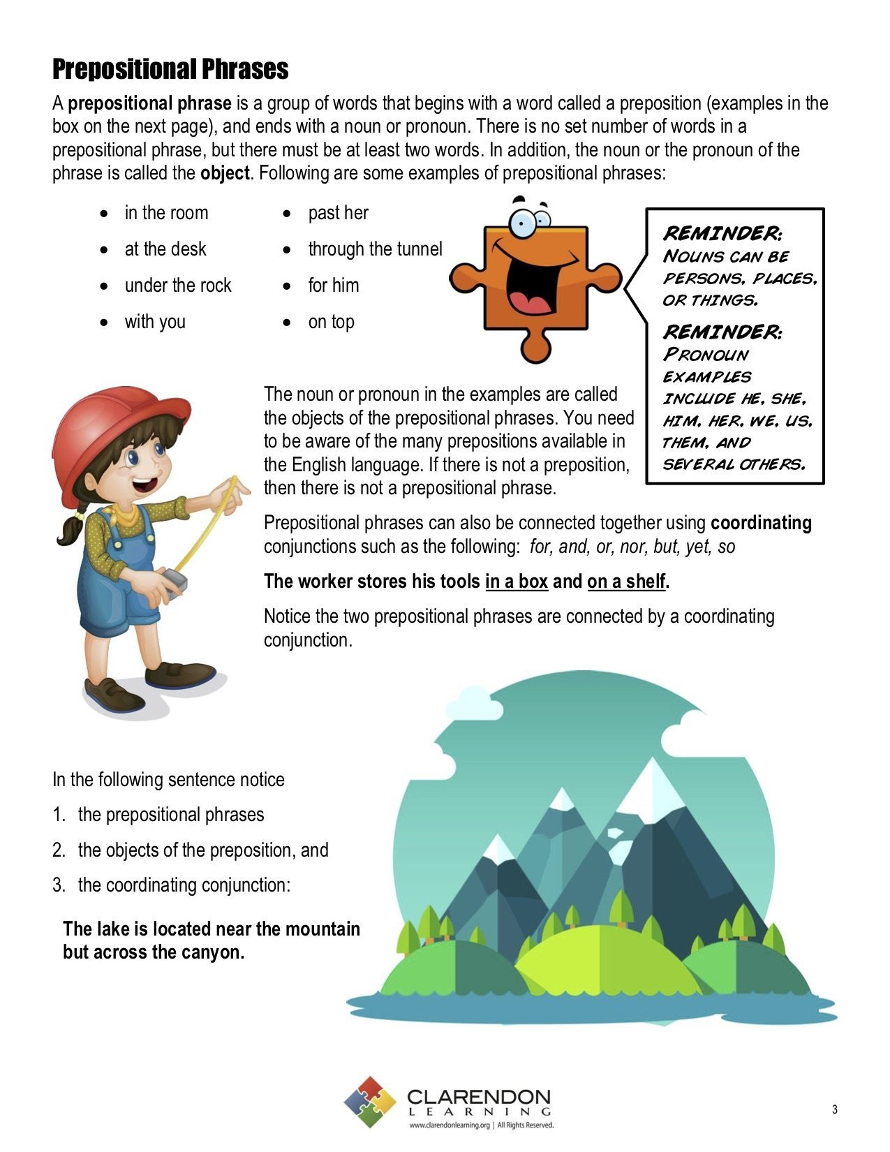 Prepositional Phrases Worksheet 6th Grade Prepositional Phrases