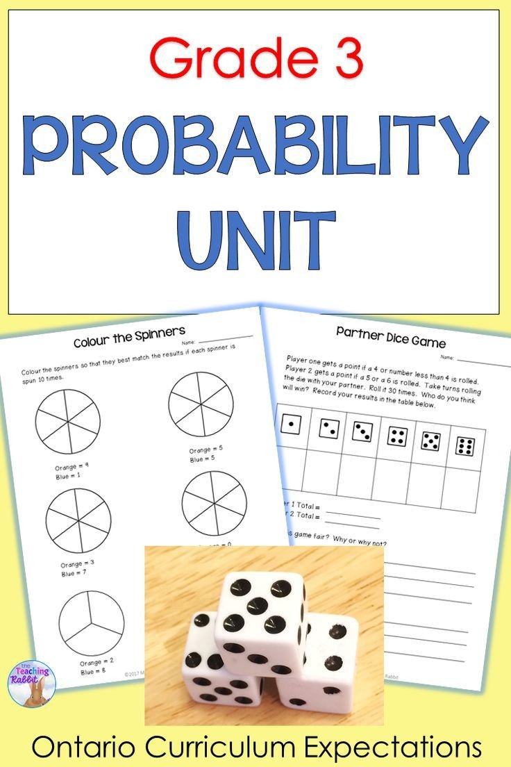 Probability Worksheet 4th Grade Probability Unit Grade 3