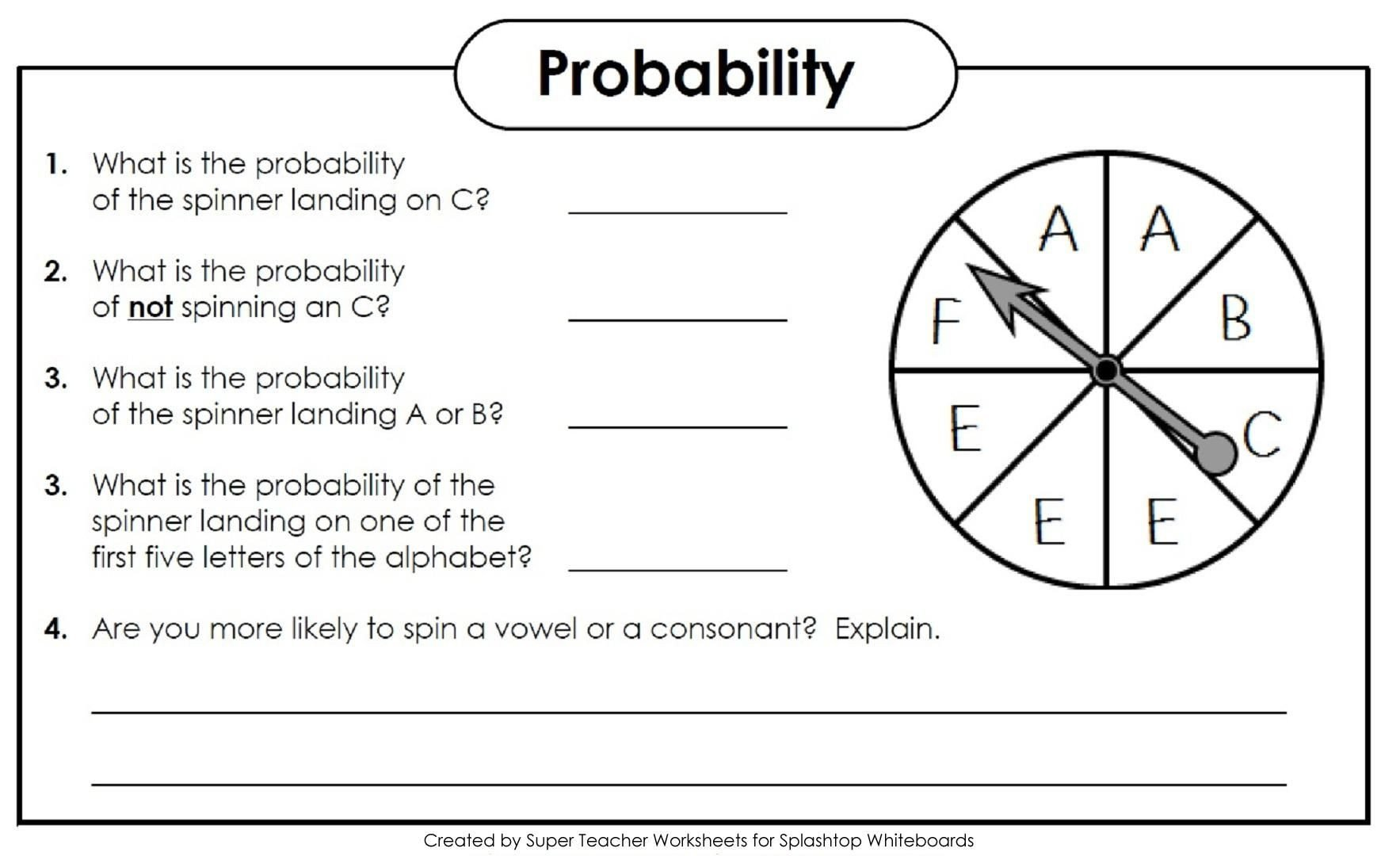Probability Worksheet 5th Grade 15 High School Geometrie Arbeitsblätter Pdf