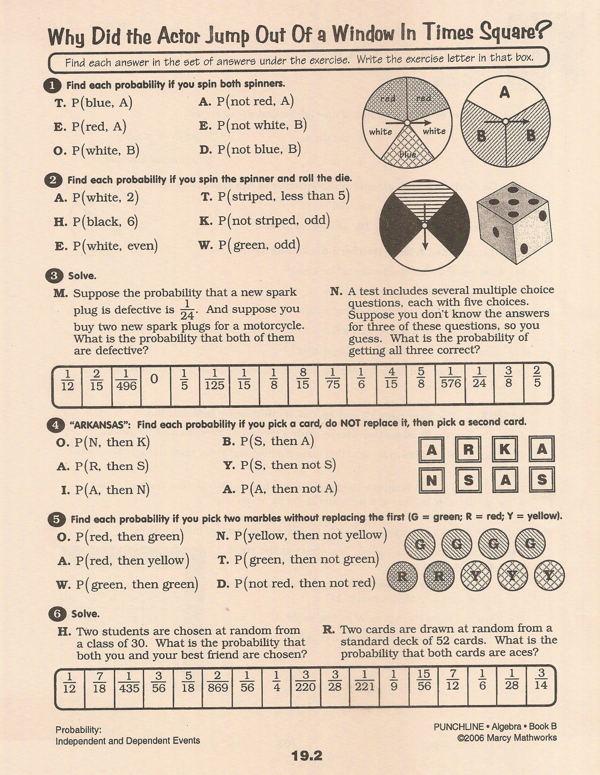 Probability Worksheet 5th Grade Pound Probability Worksheet 28