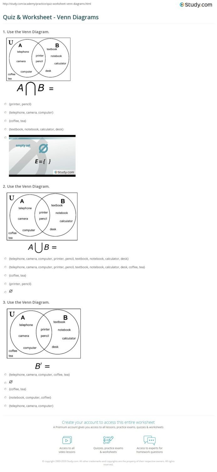 Probability Worksheet 5th Grade Probability Venn Diagram Worksheets Printable and Gcse Maths