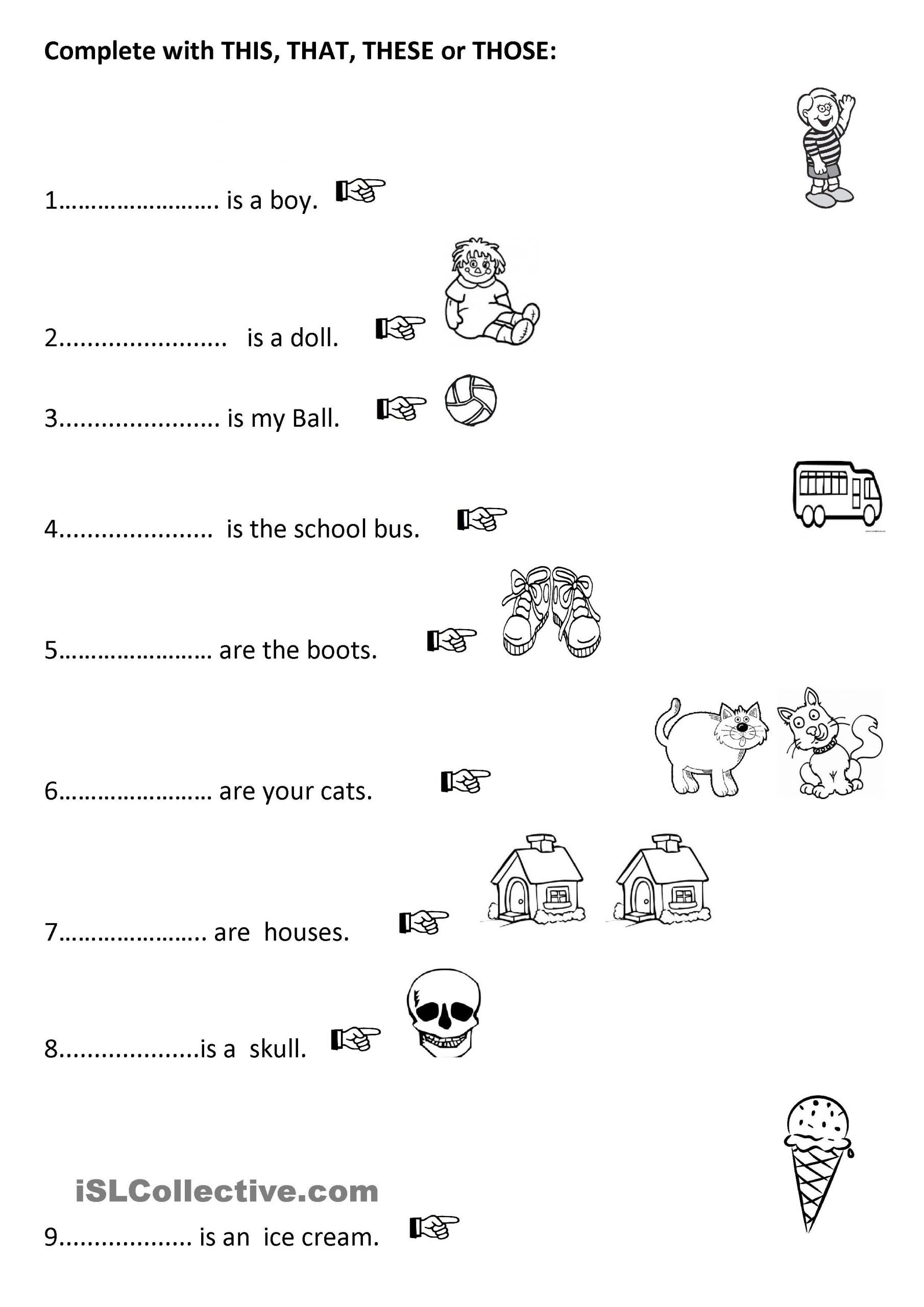 Pronoun Worksheets for Kindergarten Free E Click Print Document