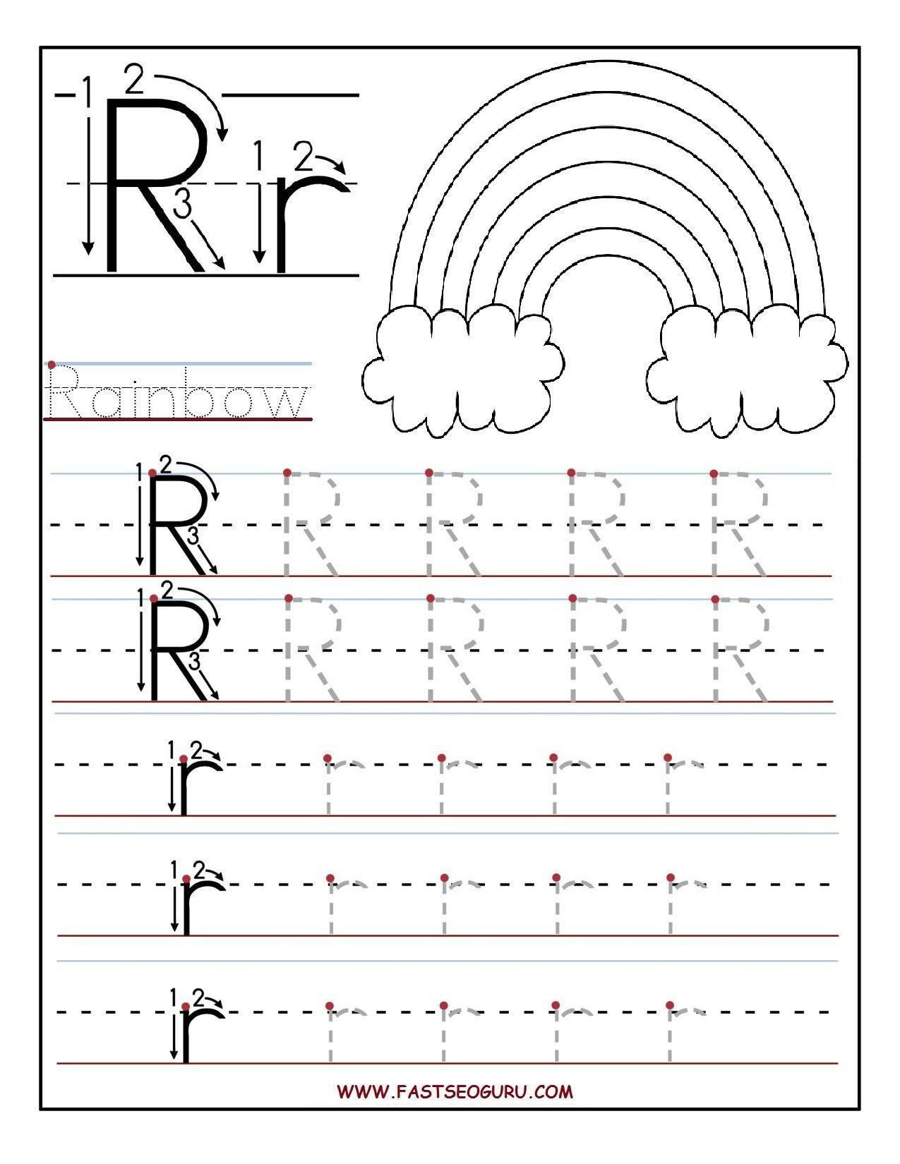 Rainbow Writing Worksheet Image Result for Tracing Letter
