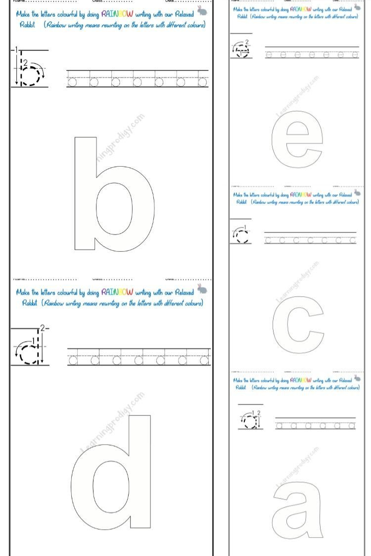 Rainbow Writing Worksheet Rainbow Writing Smallcase In 2020