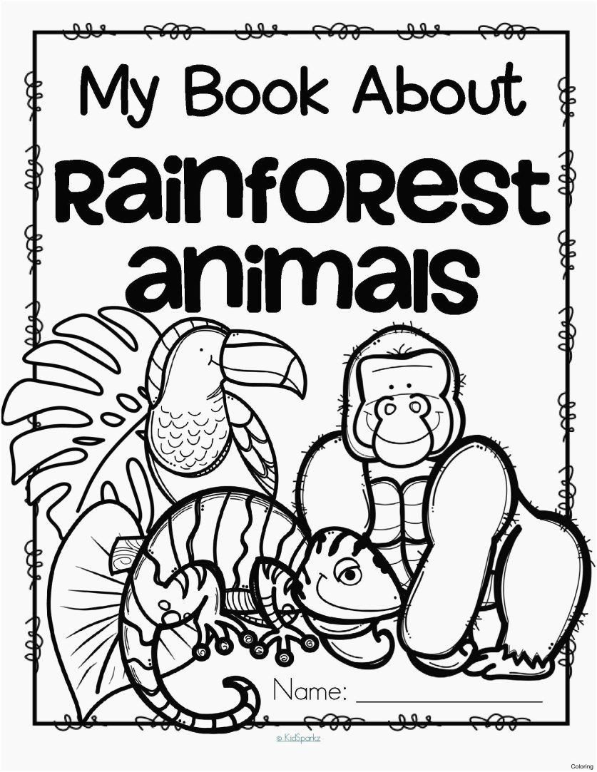 Rainforest Worksheets for Kindergarten Pin On Line Animal Coloring Pages