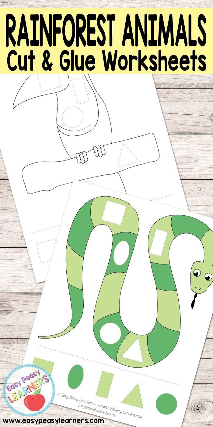 Rainforest Worksheets Free Pin On Free Printables for Kids