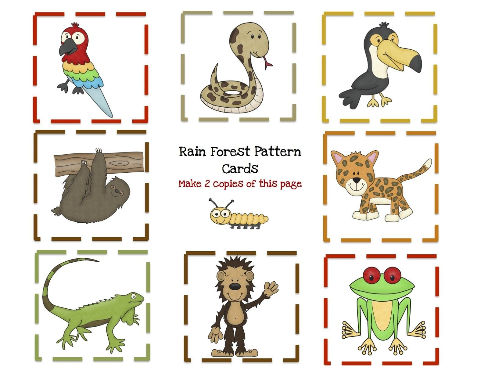 Rainforest Worksheets Free Preschool Printables Rain forest