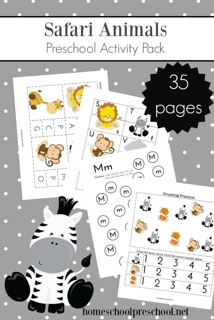 Rainforest Worksheets Free Teach Preschool with Free Jungle Animal Printables theme