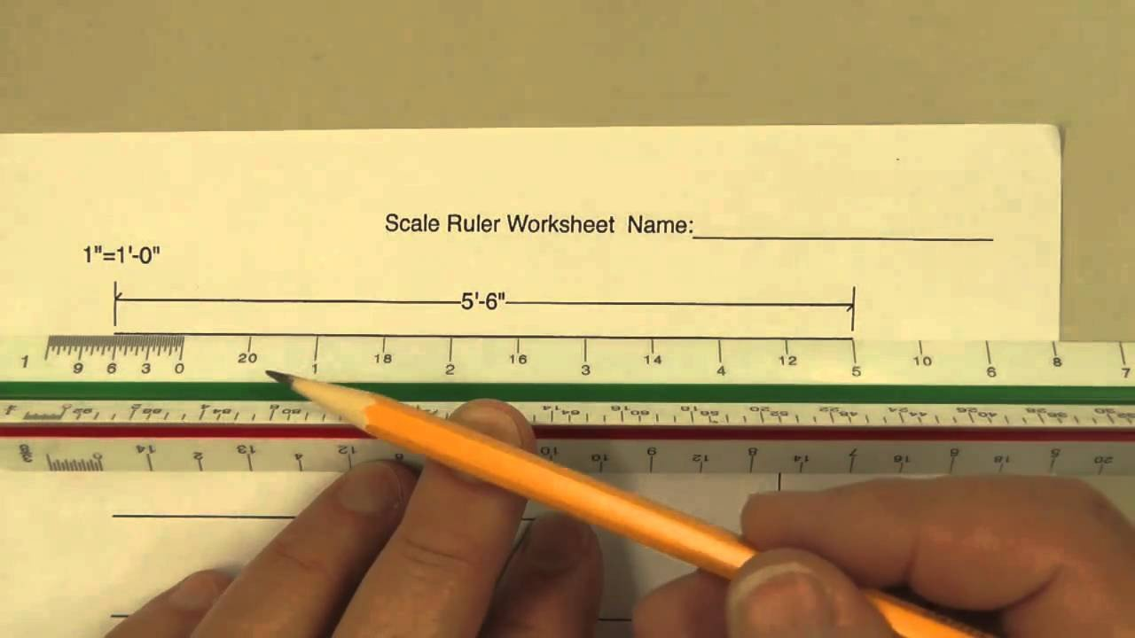 Reading A Ruler Worksheet Answers How to Use A Scale Ruler On Our Worksheet