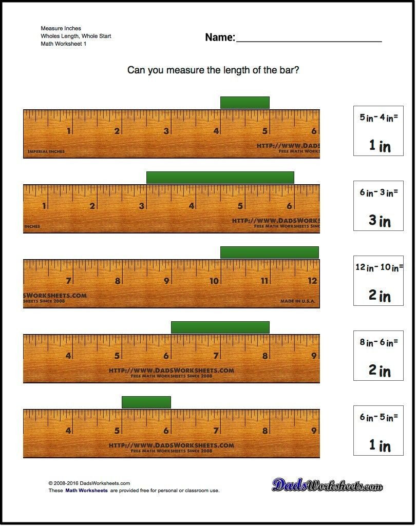 Reading A Ruler Worksheet Answers Read the Ruler Worksheets
