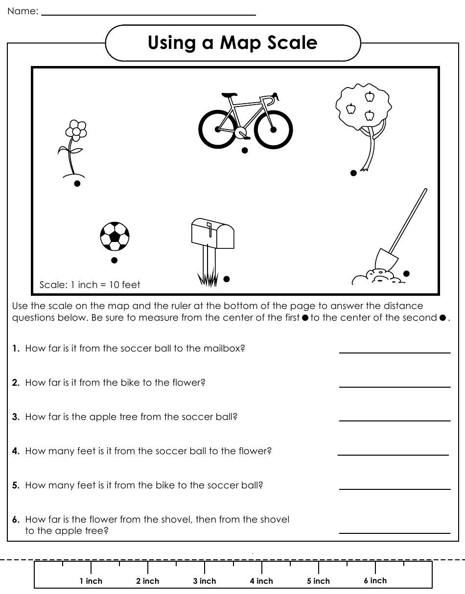 Reading A Scale Worksheet Map Scale Worksheet