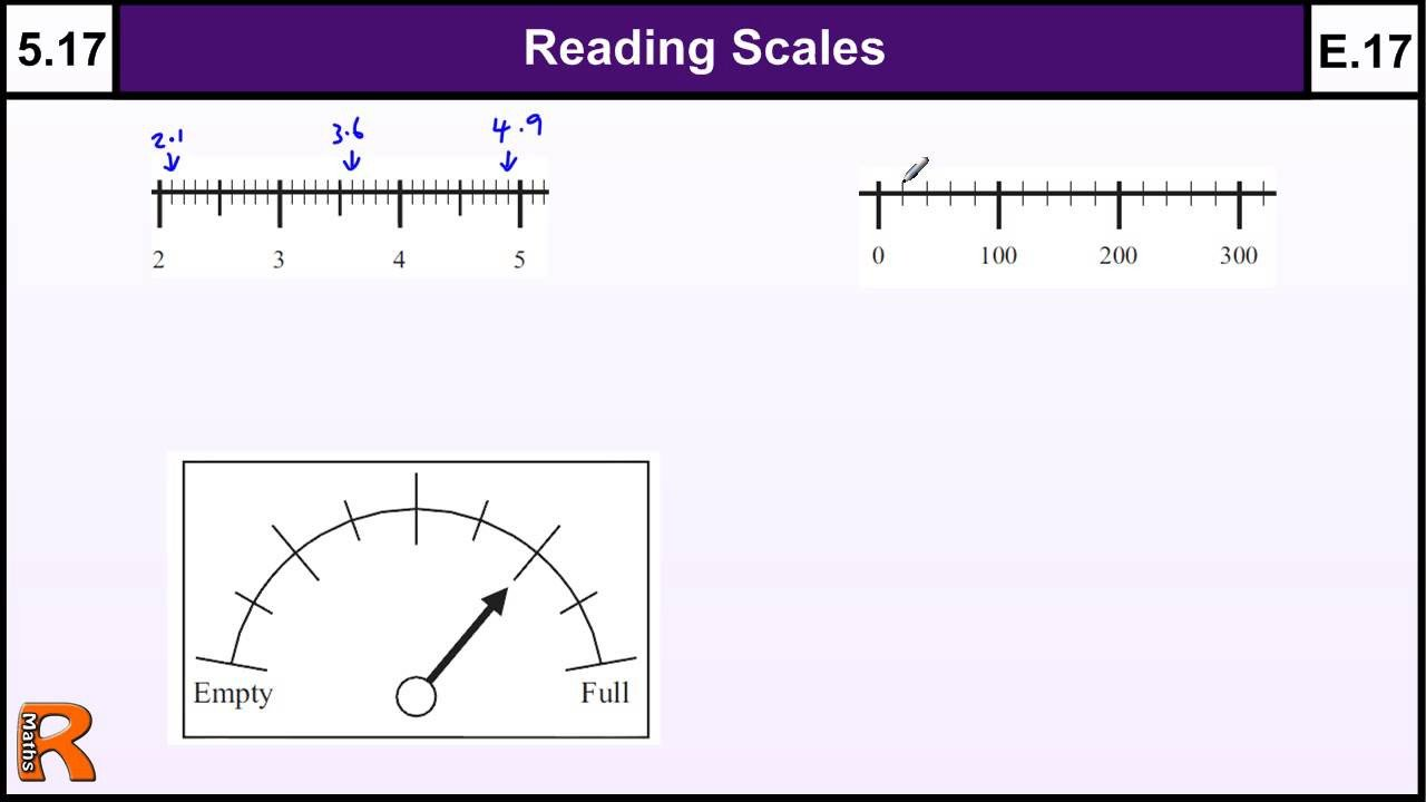 Reading Scales Worksheets 5 17 Reading Scales Basic Maths Gcse Core Skills Level 5 & Grade E