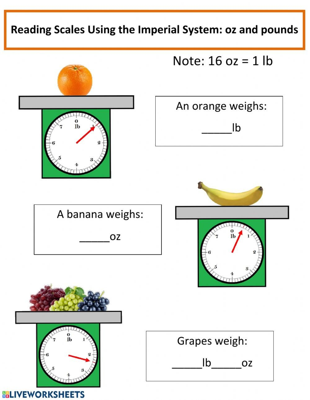 Reading Scales Worksheets Measurements Of Mass Interactive Worksheet