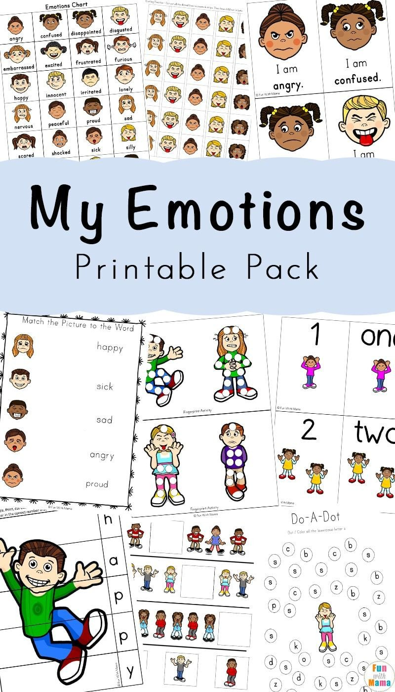 Recognizing Emotions Worksheets Feelings Activities Emotions Worksheets for Kids