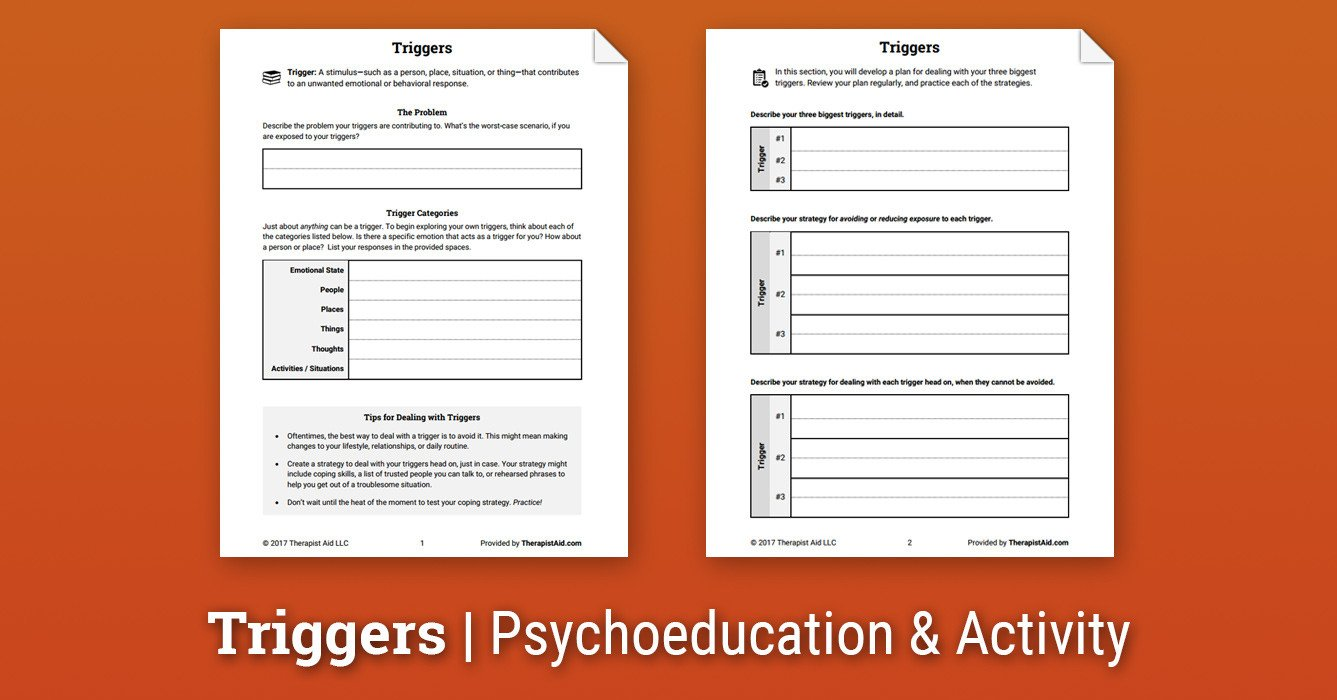 Recognizing Emotions Worksheets Triggers Worksheet